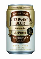 0.33公升罐裝台灣啤酒小麥啤酒