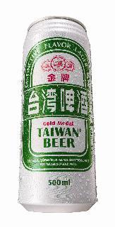 0.5公升罐裝金牌台灣啤酒