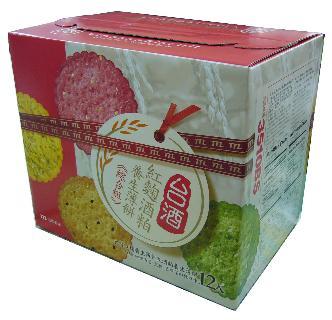 台酒紅麴酒粕養生薄餅(綜合口味)