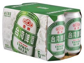 0.33公升*6罐裝金牌台灣啤酒(紙盒)