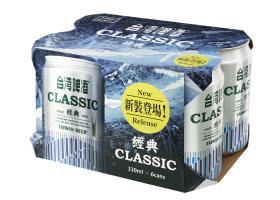 0.33公升*6罐裝台灣啤酒(紙盒包裝)