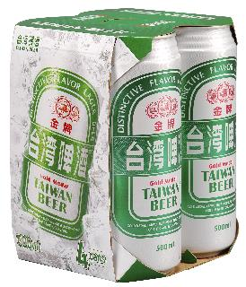 0.5公升*4罐裝金牌台灣啤酒(紙盒)