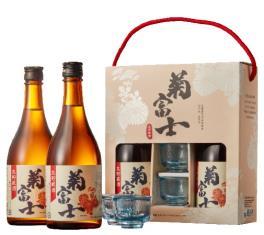 菊富士生貯藏清酒禮盒(贈藍色清酒杯)